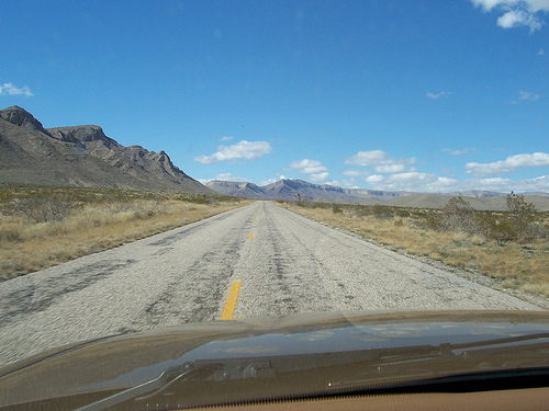 North to the Guadalupe Mountains