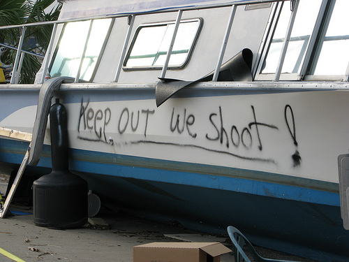 Keep Out We Shoot!