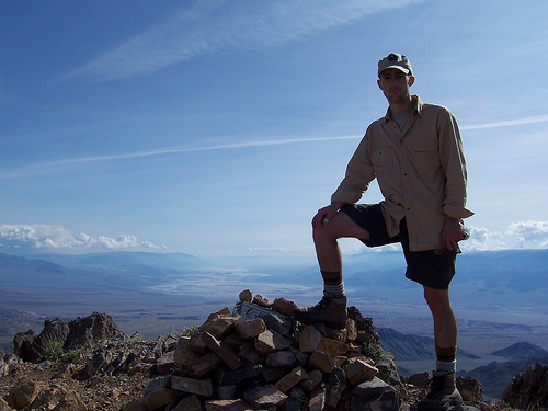 A Portrait of the Artist Doing an Unintentional Captain Morgan Pose on Corkscrew Peak